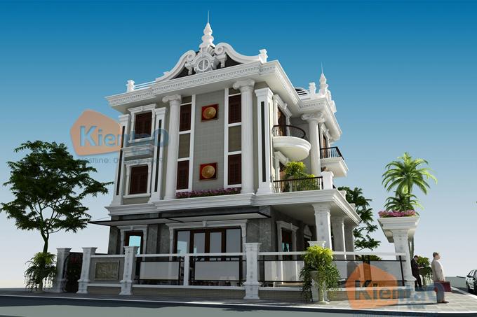 Mẫu biệt thự 3 tầng 138m2 cổ điển Đông Âu tại Văn Khê, Hà Đông, Hà Nội - Phối cảnh 05