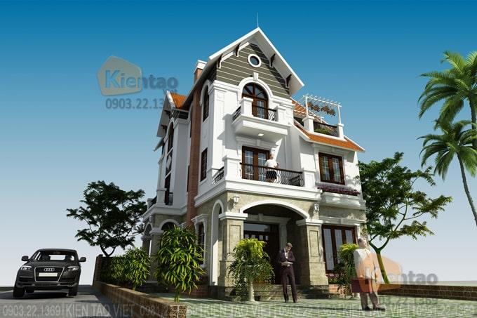 Thiết kế cải tạo biệt thự 3 tầng 95m2 tại Gleximco Dương Nội, Hà Nội - Phối cảnh 02