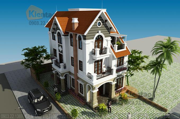 Thiết kế cải tạo biệt thự 3 tầng 95m2 tại Gleximco Dương Nội, Hà Nội - Phối cảnh 03
