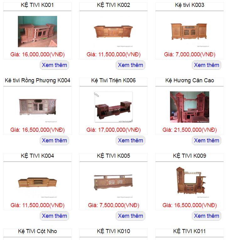 Đồ gỗ, thiết bị nội thất