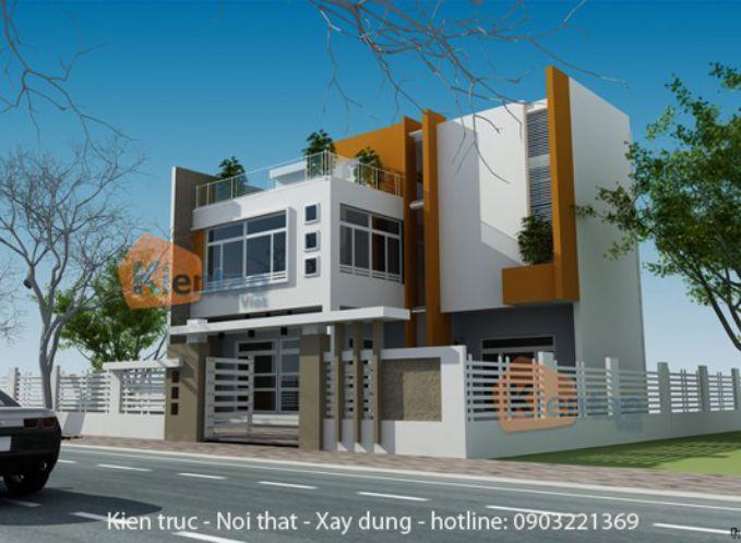 Phối cảnh - Mẫu nhà biệt thự 2 tầng đẹp tại Hà Nội