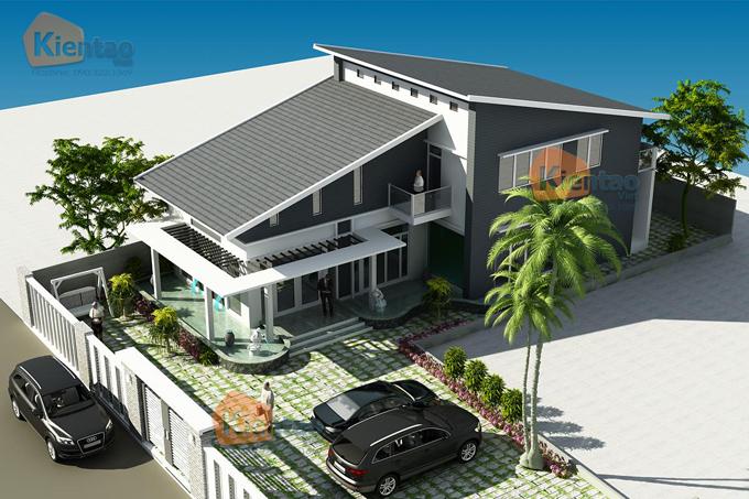 Mẫu thiết kế biệt thự đẹp 2 tầng. 4
