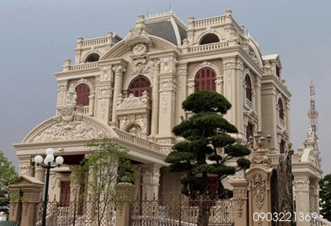 Thiết kế biệt thự đẹp cổ điển đẹp hoành tráng
