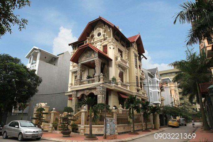 Mẫu thiết kế biệt thự đẹp cổ điển. 8