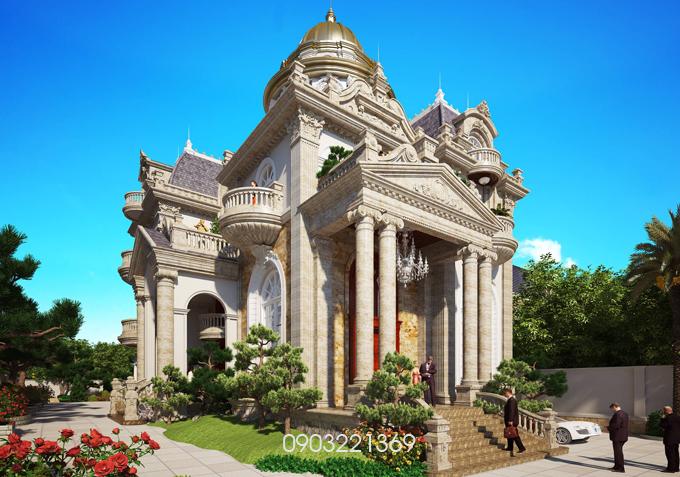 Thiết kế biệt thự đẹp cổ điển. 9