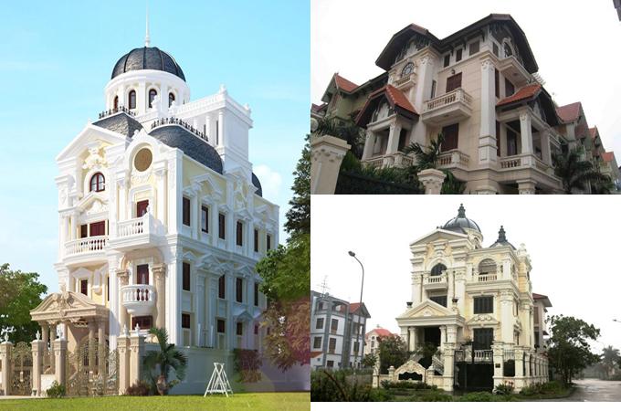 Mẫu thiết kế biệt thự đẹp cổ điển 2