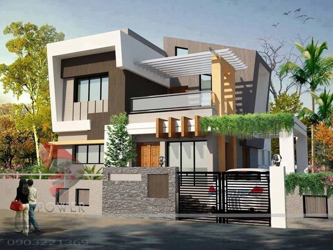 Thiết kế biệt thự hiện đại đẹp 06