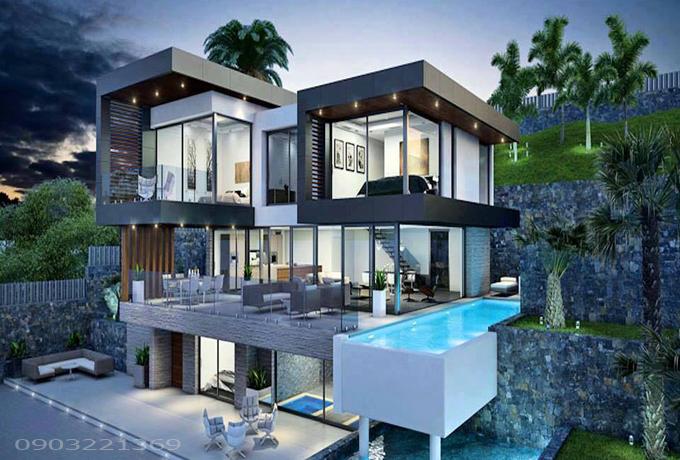 Mẫu thiết kế biệt thự đẹp hiện đại 12