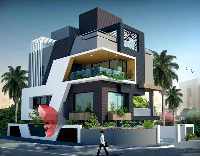 Mẫu thiết kế biệt thự hiện đại 15