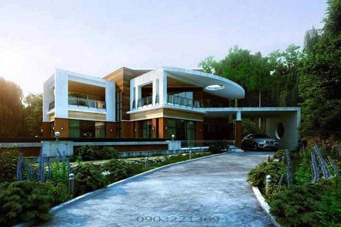 Mẫu thiết kế biệt thự hiện đại 22