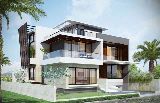 Thiết kế nhà đẹp hiện đại 34