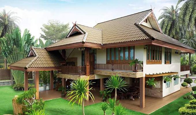 Mẫu thiết kế nhà vườn đẹp 1 đến 2 tầng 12
