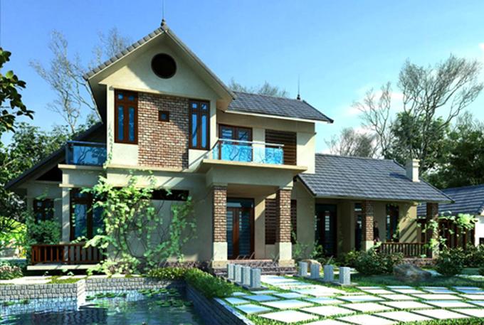 Mẫu thiết kế nhà vườn đẹp 1 đến 2 tầng 6