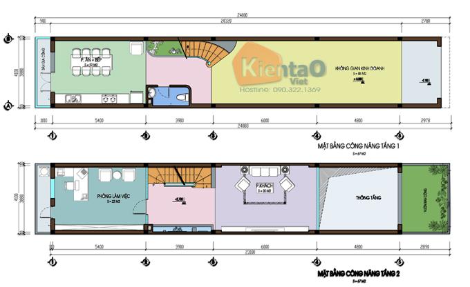 Thiết kế nhà ống lệch tầng tại Hải Phòng. 1