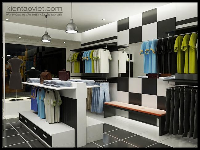 Không gian nội thất hiện đại cho Shop quần áo nhà phố nhỏ hẹp - 04