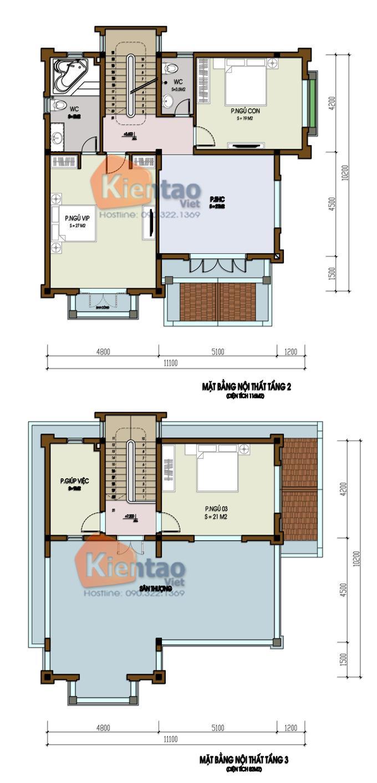 Thiết kế biệt thự 3 tầng cổ điển 2