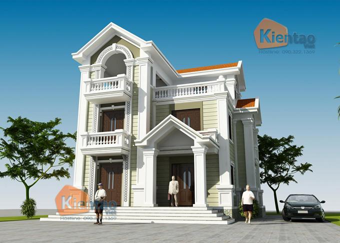 Thiết kế biệt thự 3 tầng cổ điển 3