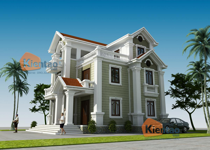 Thiết kế biệt thự 3 tầng cổ điển 4