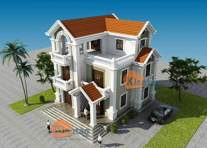 Thiết kế biệt thự 3 tầng cổ điển 5