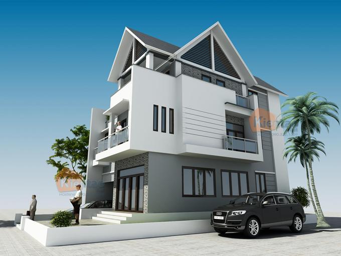 Thiết kế biệt thự 3 tầng hiện đại 2