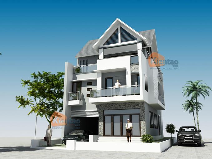 Thiết kế biệt thự 3 tầng hiện đại 3