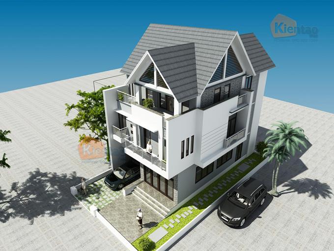 Thiết kế biệt thự 3 tầng hiện đại 4