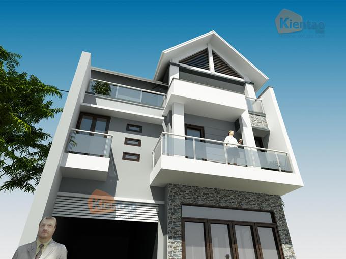 Thiết kế biệt thự 3 tầng hiện đại 5