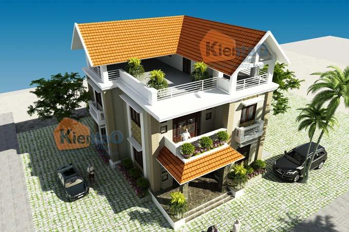 Mẫu biệt thự 2 tầng mái thái tại Thái Bình