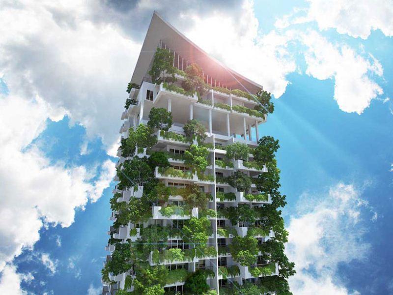 kiến trúc nhà xanh cao nhất thế giới 3