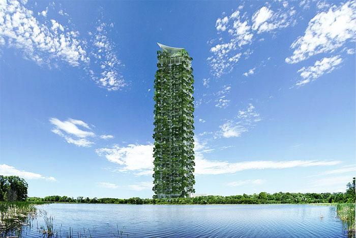kiến trúc nhà xanh cao nhất thế giới