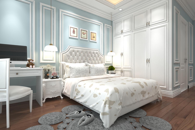 Phòng ngủ mẫu biệt thự 2 tầng cách tân đẹp