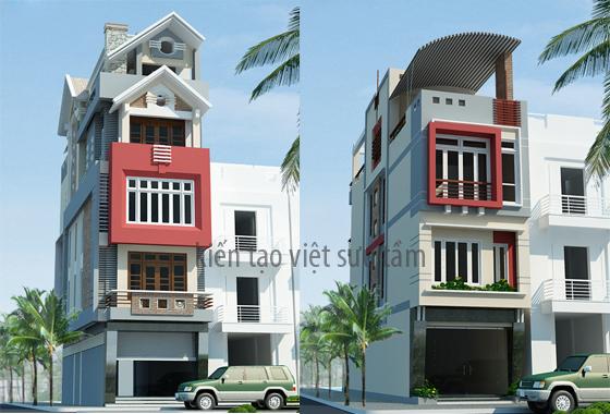 mẫu thiết kế nhà lô phố 10