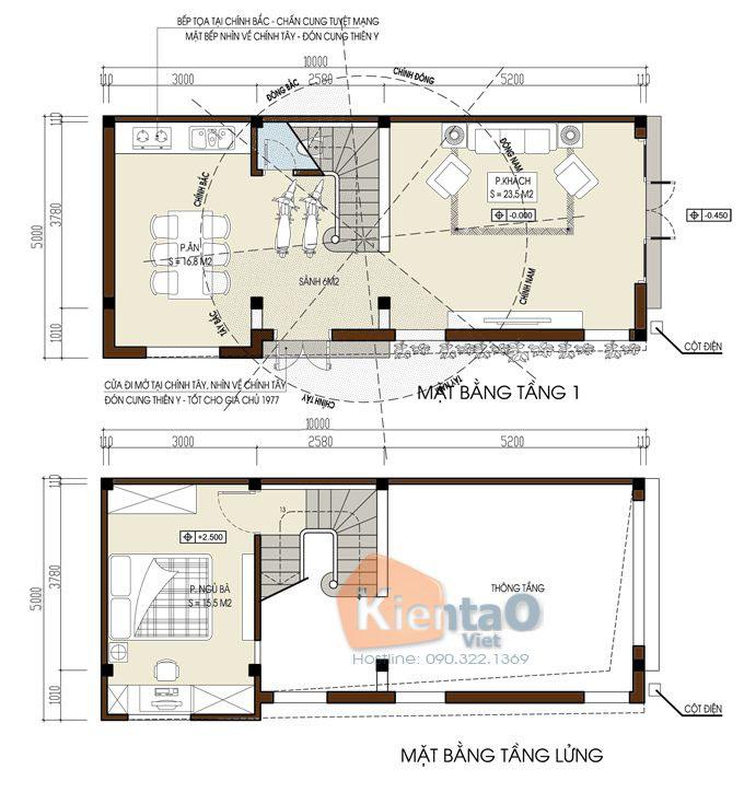 Mẫu nhà ống 3 tầng 4 phòng ngủ rộng 5x10m - 2