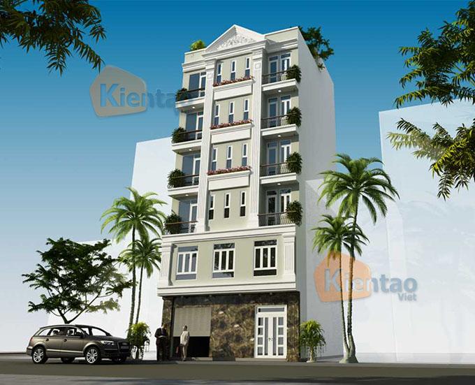Mẫu nhà ống chung cư mini cho thuê 6 tầng 8.25x9.5m tại Thanh Trì, Hà Nội - Phối cảnh 03