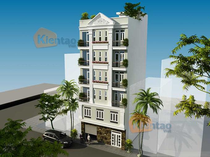 Mẫu nhà ống chung cư mini cho thuê 6 tầng 8.25x9.5m tại Thanh Trì, Hà Nội - Phối cảnh 04