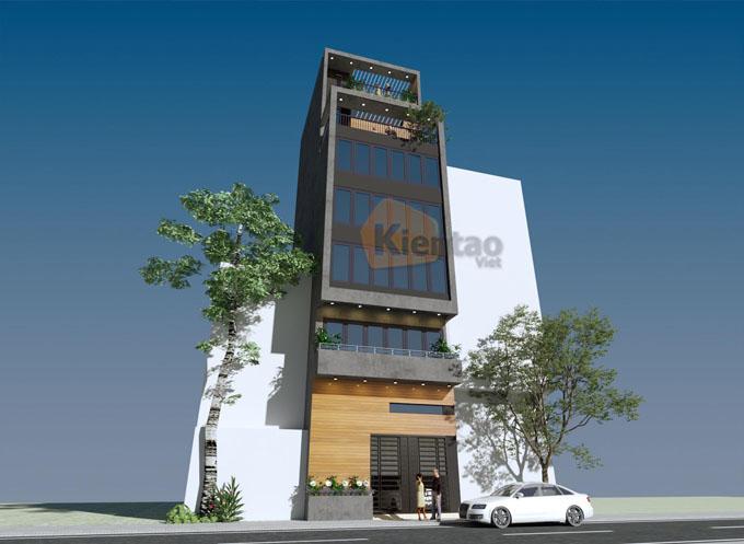 Mẫu nhà ống kết hợp kinh doanh 7.5 tầng 6.5x12m tại Ba Đình, Hà Nội - Phối cảnh 02