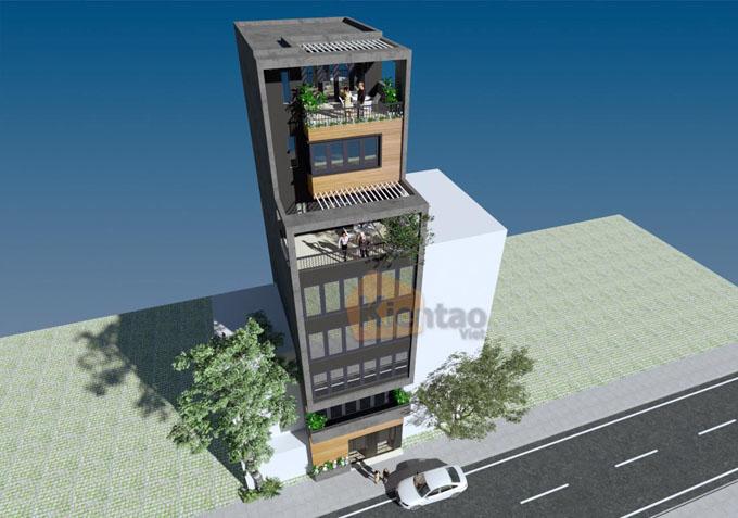Mẫu nhà ống kết hợp kinh doanh 7.5 tầng 6.5x12m tại Ba Đình, Hà Nội - Phối cảnh 03