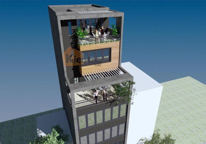 Mẫu nhà ống kết hợp kinh doanh 7.5 tầng 6.5x12m tại Ba Đình, Hà Nội - Phối cảnh 04