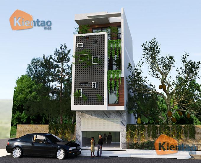 Mẫu nhà phố đẹp hiện đại 4 tầng 5x13m tại Thường Tín, Hà Nội - Phối cảnh 02