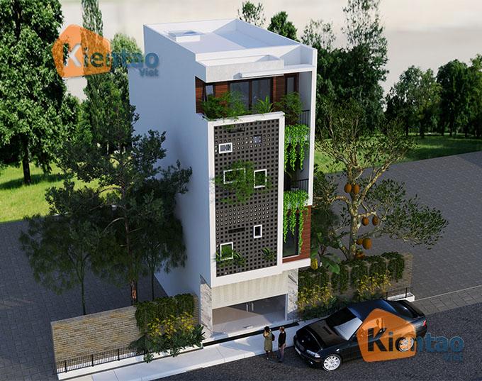 Mẫu nhà phố đẹp hiện đại 4 tầng 5x13m tại Thường Tín, Hà Nội - Phối cảnh 03