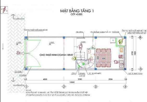 Mẫu thiết kế nhà ống đẹp 5 tầng 50m2a
