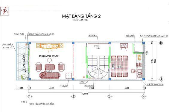 Mẫu thiết kế nhà ống đẹp 5 tầng 50m2b