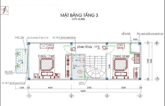 Mẫu thiết kế nhà ống đẹp 5 tầng 50m2c