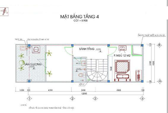 Mẫu thiết kế nhà ống đẹp 5 tầng 50m2e