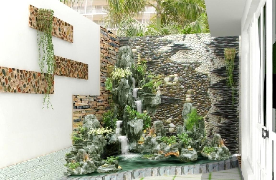 Mẫu tranh đá thác nước đẹp - 9