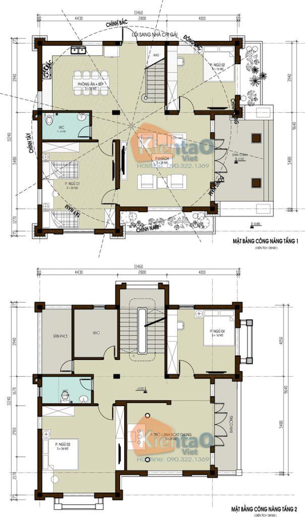 Nhà biệt thự 2 tầng cách tân tại Thái Bình. 2