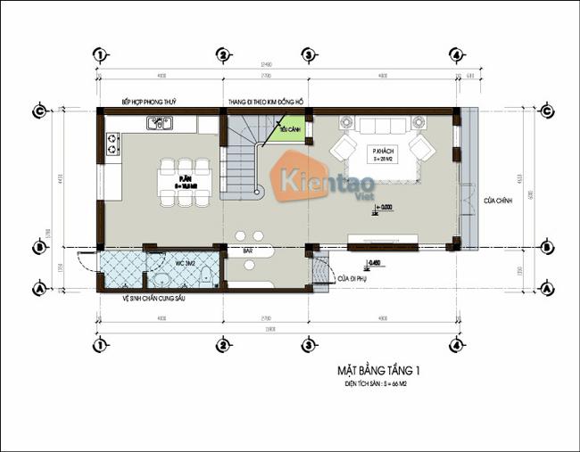 Nhà lô phố 3 tầng giả biệt thự 75m2. 2