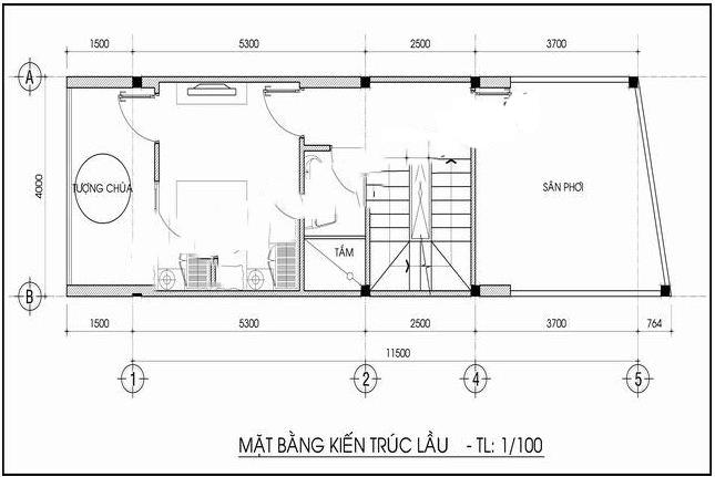 Nhà ống đẹp 3 tầng 4x12m tân cổ điển pháp. 4