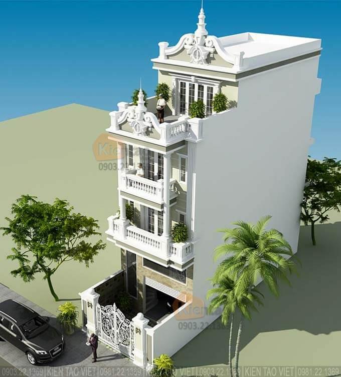 Nhà phố 4 tầng tân cổ điển tại Hà Nam