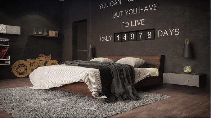 nội thất phòng ngủ tối